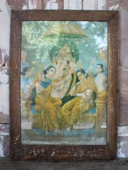 Vintage Print of Hindu Elephant Headed God Ganesha
